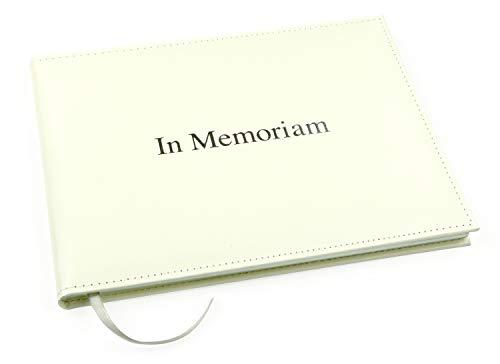 Esposti 'in Memoriam' - Libro de Condolencias para Asistentes a Servicios Funerarios – Libro de Recuerdos Presentado en Caja – Color Marfil Pálido - (Tamaño 26cm x 19.5cm x 1.5cm)