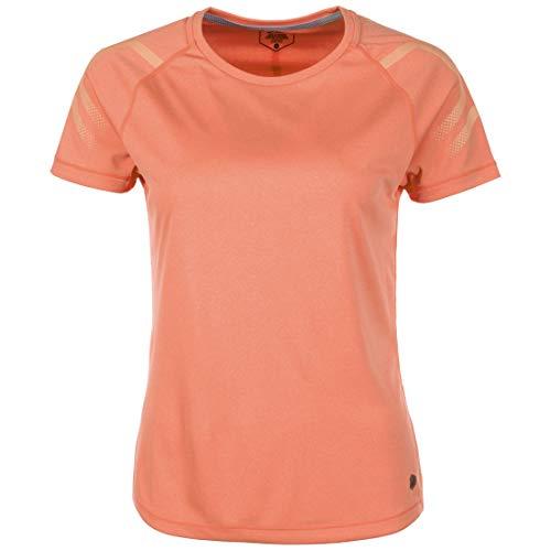 ASICS Icon - Camiseta de Manga Corta para Mujer, Icon, Mujer, Color Coralicious Heather, tamaño Medium
