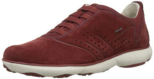 Geox Herren U Nebula A Sneaker, Rot (Dk Red C7004), 44 EU