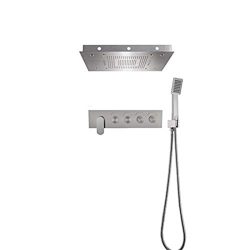 Great Deal! in-Wall Multi-Function Constant Temperature Shower Head Rain Shower (Material : Stainles...