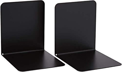 Alco-Albert 4302-11 boekensteunen van metaal, 130 x 140 x 140 mm, 1 paar, zwart