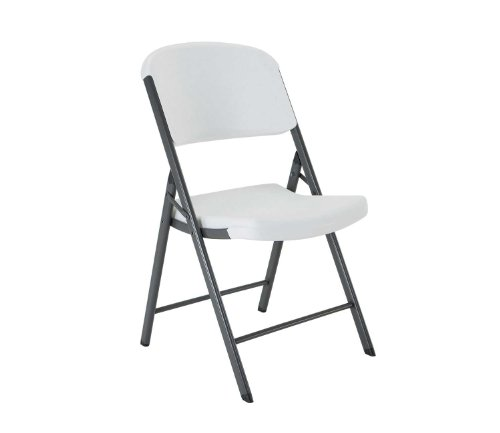 Lifetime 22804 Classic Commercial Folding Chair, White Granite, 1-pack
