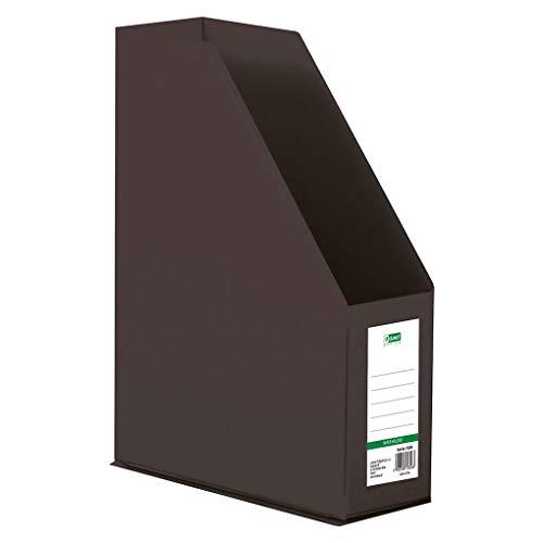D.RECT - Organizador de plástico, revistero | PVC, A4, 90mm | separadores de archivos | color negro