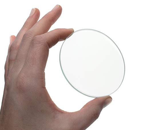 "Double Convex Lens, 1000mm Focal Length, 3"" (75mm) Diameter - Spherical, Optically Worked Glass Lens - Ground Edges, Polished - Great for Physics Classrooms - Eisco Labs"