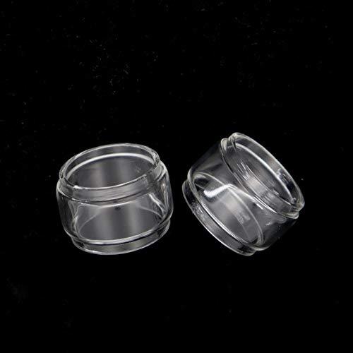 Qingtian-ceg 2 Piezas de Tubo de Burbuja de Cristal en Forma for Vandy Vape Revolver RTA Widowmaker Pyrex Grasa Cristal de la pecera (Color : 2PCS, tamaño : Fit for Widowmaker RTA)