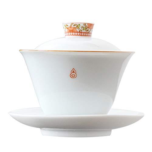 蓋碗 茶杯 茶碗 福吉三才懐蓋碗 (高さ9.5cm×...
