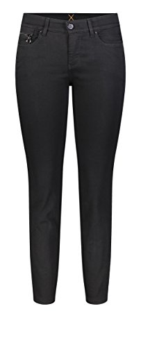 MAC Jeans Damen Dream Slim Velvet Galloon Skinny Jeans, Schwarz (Black-Black D999), W36/L27