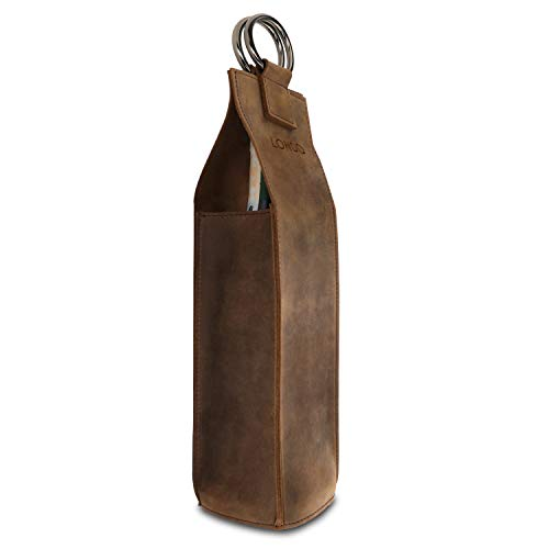 Londo Portabottiglie Per Vino In Vera Pelle (Cinnamon)