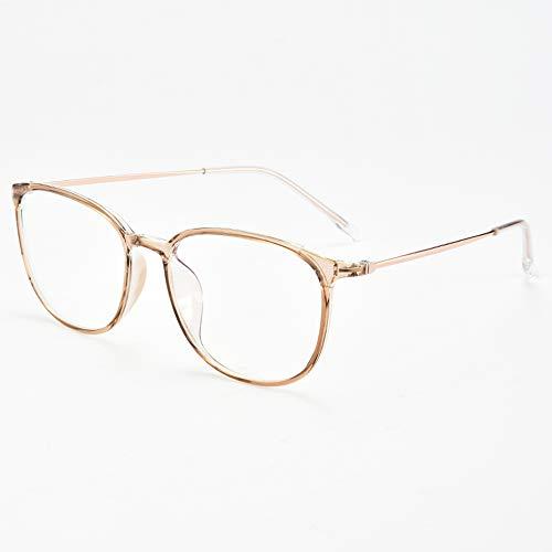 WYZQQ Leesbril met blauw licht, voor mannen en vrouwen, leesbril, blauw licht, anti-vermoeidheid van de ogen, UV-filter, licht, titanium, 6 kleuren