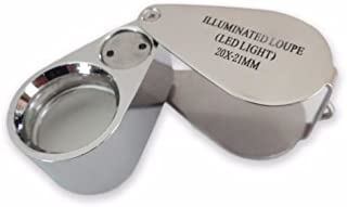 20X Lighted LED Illuminated Jewelers Jewelry Loupe Magnifying Glass Magnifier US