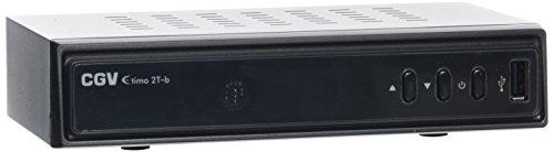 CGV ETIMO 2Tb Receptor/Grabador TDT HD con Doble sintonizador, Color Negro