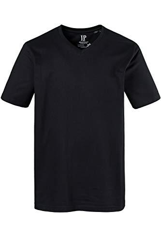 JP 1880 Herren große Größen bis 8XL, T-Shirt aus Jersey, Basic, V-Shirt, Reine Baumwolle, V-Ausschnitt, schwarz XXL 702415 10-XXL