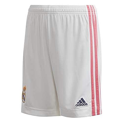 Adidas Real Madrid Saison 2020/21 Kurze Hose, erste offizielle Ausrüstung, Kurze Hose für Kinder L weiß