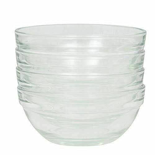 4 Small Glass Prep Bowls, 3.5 Inch Diameter Tableware Kitchen mixing bowl Kitchen equipment Cooking utensils mixing bowl Kitchen utensils