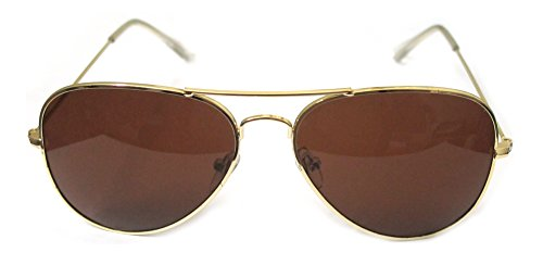 Outray Classic Colorful Aviator Sunglasses Gold Brown