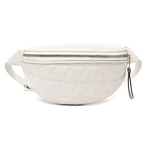 GLADMIN PU Cuero Crossbody Bolsas para Mujer Cadena Pequeño Hombro Bolso Simple Lady Travel Popular Bolsos Pechos (Color : Beige)