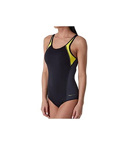 Freya Freestyle Underwire Moulded One Piece Swimsuit (AS3969) 40DD/Black/Zest
