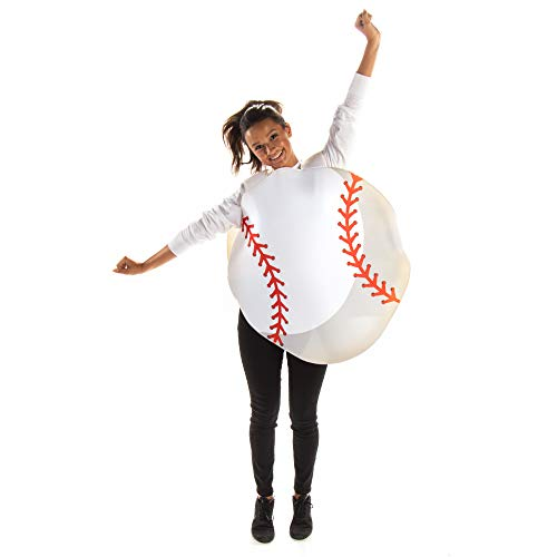 Baseball Halloween Costume - One Size Fits All Sports Outfit Perfect for Parties