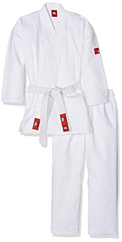 YOSIHIRO Karategui Kimono, Unisex Adulto, Blanco, 140 cm