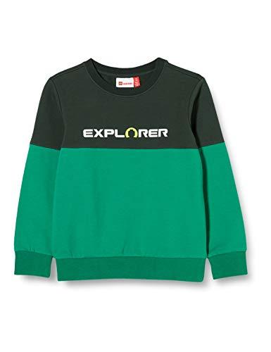 Lego Wear Jungen LWSAM Explorer Sweatshirt, 871 Dark Green, 122