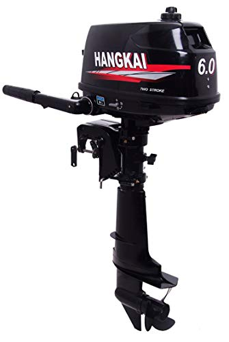 NOPTEG Hangkai 6HP 2 Stroke Fishing Boat Motor Marine Engine Outboard Motors with Free Compelete Parts