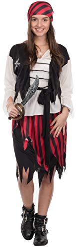 Brandsseller Damen Kostüm Verkleidung Pirat S