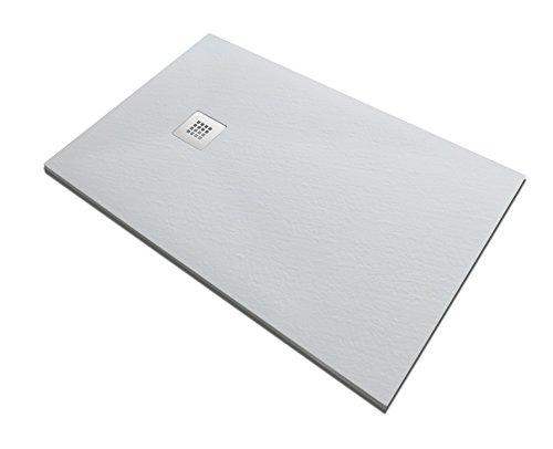 Piatto Doccia In Pietra SOLIDSTONE Alto 2,8cm Bianco Misura: 80x160 X 2,8h