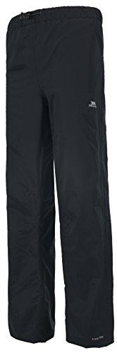 Trespass Purnell, Black, XL, Wasserdichte Regenhose mit Reißverschluss auf voller Beinlänge für Herren, X-Large, Schwarz