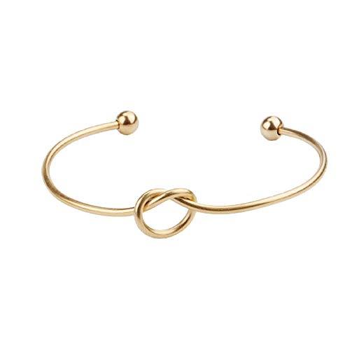 Pulseras de los hombres 2 mm de acero inoxidable fino amor corazón anudado pulsera melocotón en forma de corazón brazalete abierto brazalete
