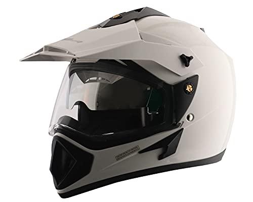 Vega Off Road OR-D/V-W_M Full Face Motocross Helmet (White, M)
