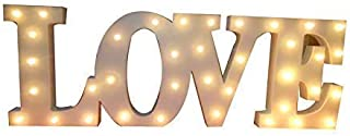 Decorative Wooden LED Letters Light