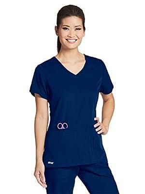 Grey's Anatomy 41423 Top Indigo (Navy) XL