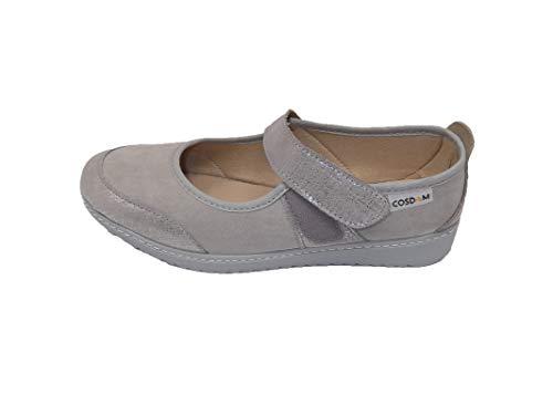 Zapato/Mujer/Cosdam/Plantilla Extraíble/Apto Plantilla ortopédica/Empeine Téxtil/Suela Poliuretano/Color Gris Perla/Talla 41