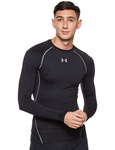 Under Armour Herren UA HeatGear Long Sleeve langärmliges Funktionsshirt, atmungsaktives Langarmshirt für Männer, Schwarz, Medium