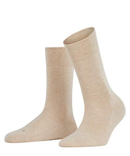 FALKE Damen Socken Sensitive London - 94prozent Baumwolle, 1 Paar, Beige (Sand Melange 4659), Größe: 35-38