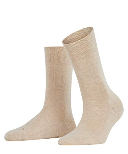 FALKE Damen Socken Sensitive London, 1 Paar, Beige (Sand Melange 4659), 39-42