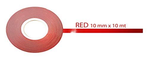 Cinta decorativa adhesiva para carrocería 10m rojo