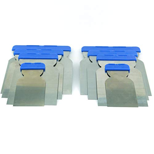 2x 4er Japanspachtel Set Stahlblatt säurefest Metallspachtel Flexibler Flächenspachtel Qualitätswerkzeug für Profis Made in Germany