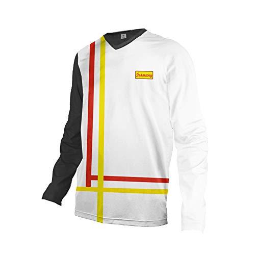 Uglyfrog Uomini Cycling Jersey Abbigliamento Downhill a Maniche Lunghe in Jersey Motocross Leggero Inverno Vello Caldo Jacket Ciclo Completo Shirt HIHerDownJZR04