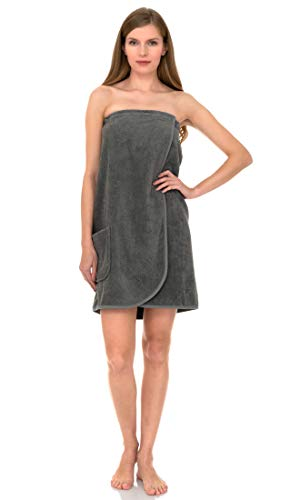 TowelSelections Women's Wrap, Shower & Bath, Terry Spa Towel Small Wild Dove