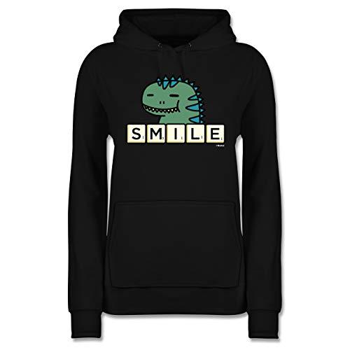 Scrabble Damen - Smile - S - Schwarz - Fun - JH001F - Damen Hoodie und Kapuzenpullover für Frauen