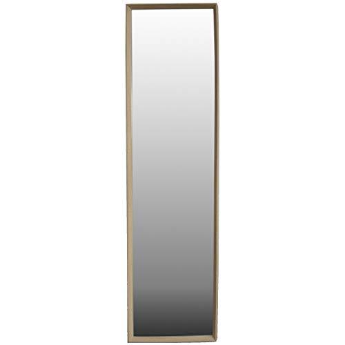 Miroir Beige porte Naturel de bois de Hêtre pour la chambre à coucher - le Design Nordique - Maison et plus