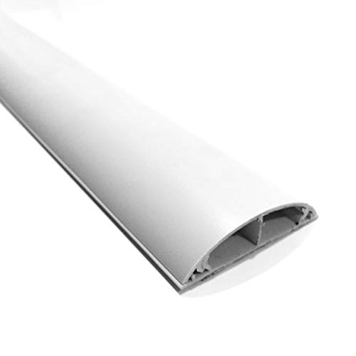SCOS Smartcosat SCOSKK261 35 cm Habrund Kabelkanal (L x B x H 350 x 50 x 12 mm, PVC, Fußboden, Kanal, Selbstklebend) weiß