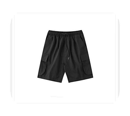 Pantalones cortos Retro High Street Dark Souls Hombres Hip Hop Big Pocket Pantalones Tide Marca Streetwear Verde Verano Playa Hombre