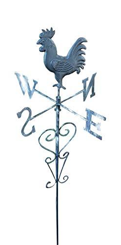 BURI LED Solar Wetterhahn bunt Dekokugel Leuchtend Windspiel Beetstecker Gartendeko