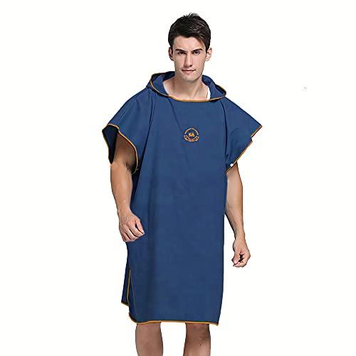 Ele Eleoption - Poncho asciugamano con cappuccio in microfibra, ideale per il surf, compatto e...