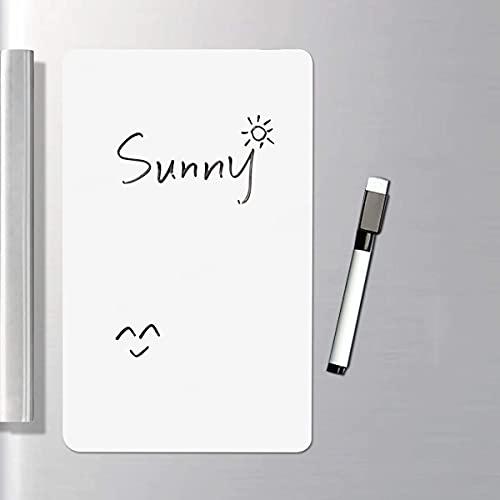 JINJIANG Pizarra blanca magnética borrable en seco A4 A3 pizarra blanca magnética flexible de borrado en seco Pizarra de notas magnética para frigorífico y tablero de anuncios (A3)