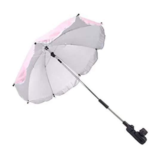 ERJIA Kinderwagen-Regenschirm, Rollstuhl-Kinderwagen und Halterung Sonnenschirm, UV-Strahlen, Regen, Sonnendach, Sonnenschutz, Kinderwagen, Regenschirm, Faltbar, D