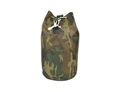 Vetrineinrete Sacca da mare mimetica borsa a tracolla zaino a spalle da spiaggia piscina borsetta unisex uomo donna verde militare con manici regolabili chiusura a laccio G60