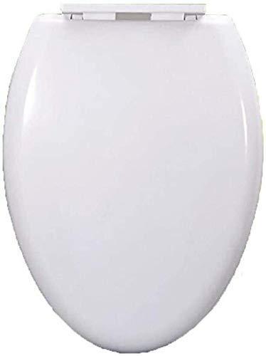 CVMFE V/T Forma de Asiento de Inodoro con tampón cojín de liberación rápida Ultra Resistente Inferior montado en la Tapa del Inodoro for Aseo Blanca, 45-48 * 35cm